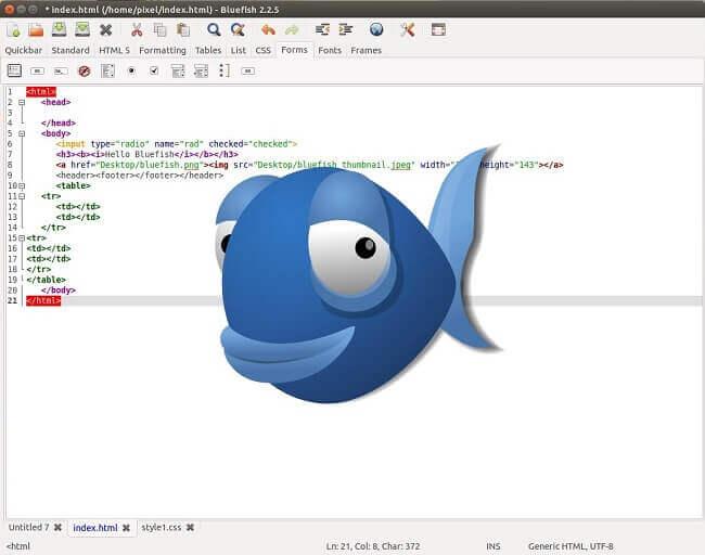 bluefish-editor
