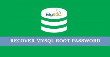 Recover-mysql-root-user-password