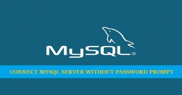 connect-mysql-server-without-prompting-password