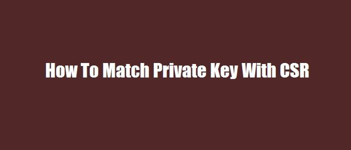match-private-key