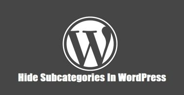 Hide-Subcategories-In-WordPress