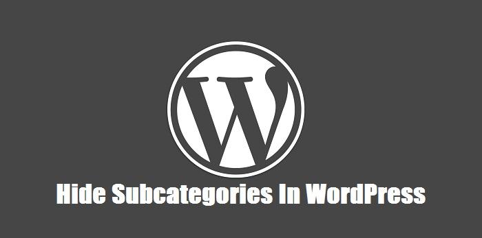 Hide-Subcategories-In-WordPress