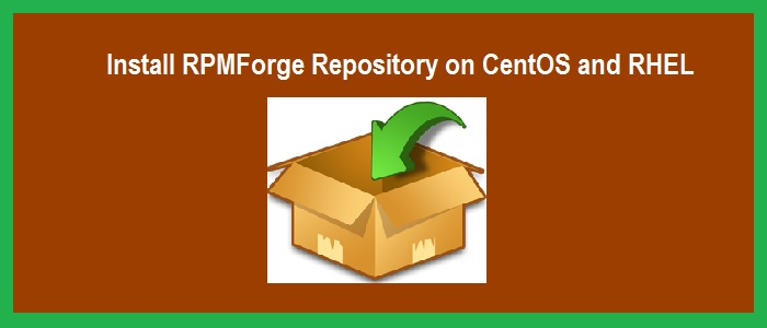 Install-rpmforge-repository