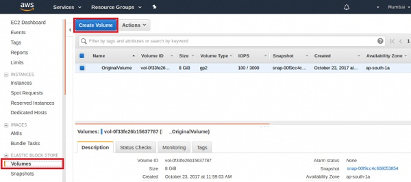How To Create EBS Volume Using Amazon Web Console - LookLinux
