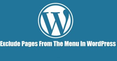 exclude-page-from-wordpress