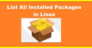 list-installed-packages