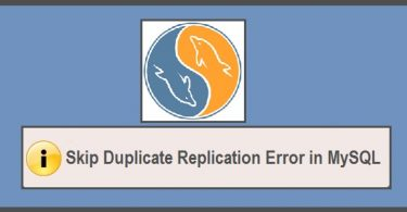 Duplicate-replication-error