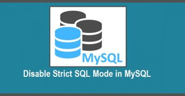 disable-mysql-strict-mode