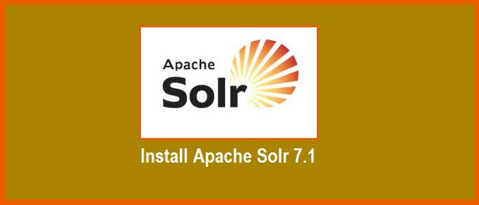 install-apache-solr-7