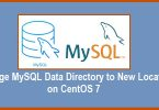 Change MySQL Data Directory to New Location on CentOS 7