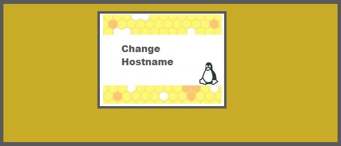 Change-hostname-fedora-centos