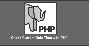 Check Current Date Time with PHP