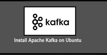 Install Apache Kafka