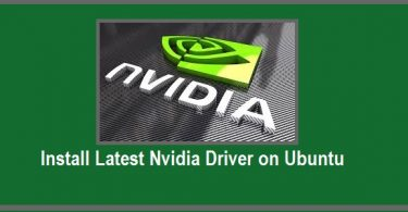 Install Latest Nvidia Driver on Ubuntu