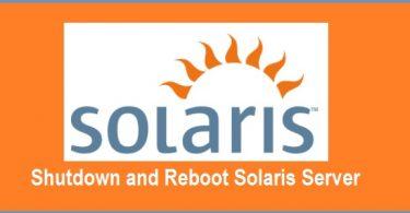 Shutdown-Reboot-Solaris Server